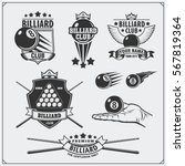 set of billiards labels ... | Shutterstock .eps vector #567819364
