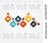 infographic design template... | Shutterstock .eps vector #567824959