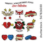 vector valentine's day stickers ... | Shutterstock .eps vector #567826030