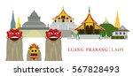 luang prabang  laos  landmarks...   Shutterstock .eps vector #567828493