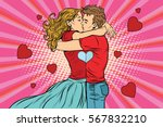 love couple kiss  boy and girl... | Shutterstock .eps vector #567832210