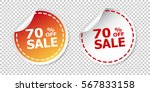 sale stickers 70  percent off.... | Shutterstock .eps vector #567833158