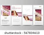 flyers set  modern banners.... | Shutterstock .eps vector #567834613