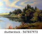 Ukrainian Landscape River ...