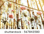 wedding flowers decoration arch ... | Shutterstock . vector #567843580