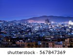 barcelona in sunset time  spain | Shutterstock . vector #567847369