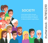society conceptual banner with... | Shutterstock .eps vector #567852250