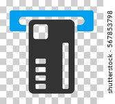 ticket machine icon. vector... | Shutterstock .eps vector #567853798