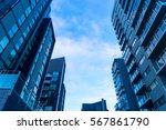 modern apartment complex seen... | Shutterstock . vector #567861790