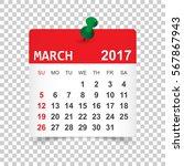 March 2017. Calendar Vector...