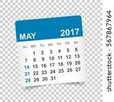 may 2017. calendar vector... | Shutterstock .eps vector #567867964