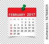 february 2017. calendar vector... | Shutterstock .eps vector #567868024