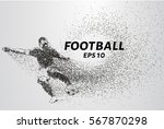football of the particles.... | Shutterstock .eps vector #567870298
