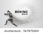 boxer of the particles. the... | Shutterstock .eps vector #567870304