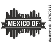mexico d.f. skyline stamp... | Shutterstock .eps vector #567870916