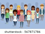 the team of young people of... | Shutterstock .eps vector #567871786