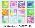 happy holi festival in india... | Shutterstock .eps vector #567873190
