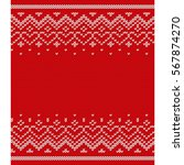 knitted seamless pattern.... | Shutterstock .eps vector #567874270