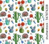 seamless watercolor pattern...   Shutterstock . vector #567876208