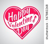 happy valentines day vector... | Shutterstock .eps vector #567882268