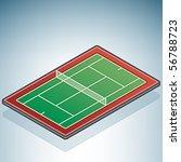 tennis field | Shutterstock .eps vector #56788723