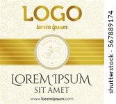golden vintage template.... | Shutterstock .eps vector #567889174