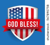 god bless america shiled with... | Shutterstock .eps vector #567890758