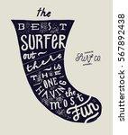 best surfer surfboard fin... | Shutterstock .eps vector #567892438