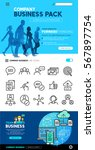 business layout designs with... | Shutterstock .eps vector #567897754