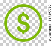 dollar rounded icon. vector... | Shutterstock .eps vector #567897790
