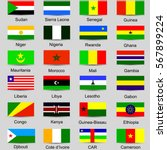 set of african countries flags... | Shutterstock .eps vector #567899224