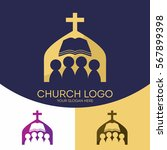 church logo. christian symbols. ... | Shutterstock .eps vector #567899398