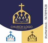 church logo. christian symbols. ... | Shutterstock .eps vector #567899428