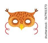 owl animal head mask  kids...   Shutterstock .eps vector #567901573