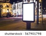 outdoor kiosk advertising mockup | Shutterstock . vector #567901798