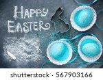 happy easter concept background | Shutterstock . vector #567903166