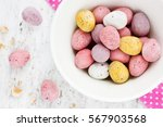 chocolate candy mini eggs  ... | Shutterstock . vector #567903568