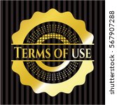 terms of use golden emblem or...