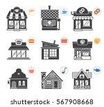 set of stylized illustrations...   Shutterstock .eps vector #567908668