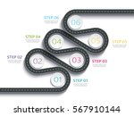 winding road way location... | Shutterstock .eps vector #567910144