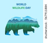 world wildlife day  march 3....   Shutterstock .eps vector #567911884