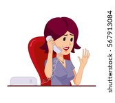 secretary or a housewife... | Shutterstock .eps vector #567913084