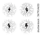 vector black and white grunge... | Shutterstock .eps vector #567914653