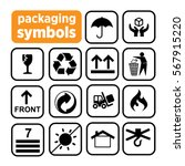 packaging symbols. recycling... | Shutterstock .eps vector #567915220