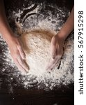 preparation of the dough | Shutterstock . vector #567915298