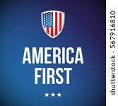america first banner with usa... | Shutterstock .eps vector #567916810