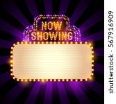 vintage theatre   cinema sign... | Shutterstock .eps vector #567916909