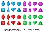 multi colored gems set. jewelry ... | Shutterstock .eps vector #567917296