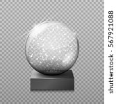 snow glass transparent ball ... | Shutterstock .eps vector #567921088