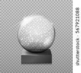 snow glass transparent ball ... | Shutterstock .eps vector #567921088
